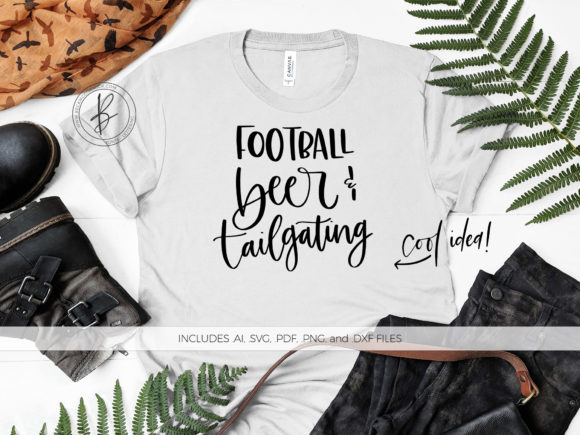 Download Free Football Beer Tailgating Graphic By Beckmccormick Creative for Cricut Explore, Silhouette and other cutting machines.
