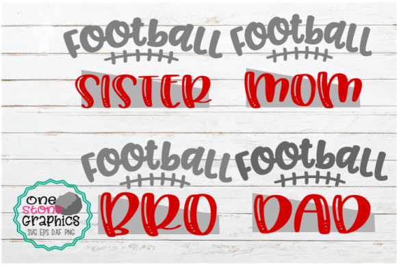 Football Family Bundle Graphic Crafts By OneStoneGraphics