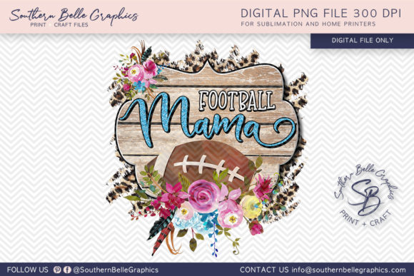 Football Mama Graphic Crafts By Southern Belle Graphics