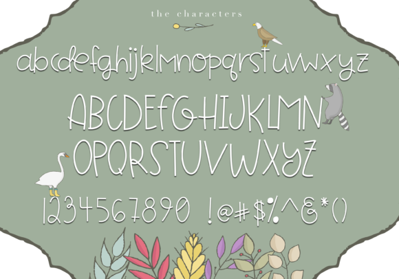 Print on Demand: Forest Friends Display Font By KA Designs - Image 6