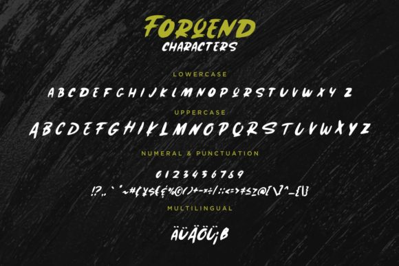 Print on Demand: Forqend Display Font By CreatypeStudio - Image 7