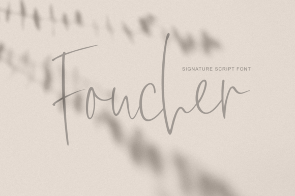 Print on Demand: Foucher Script & Handwritten Font By Pasha Larin