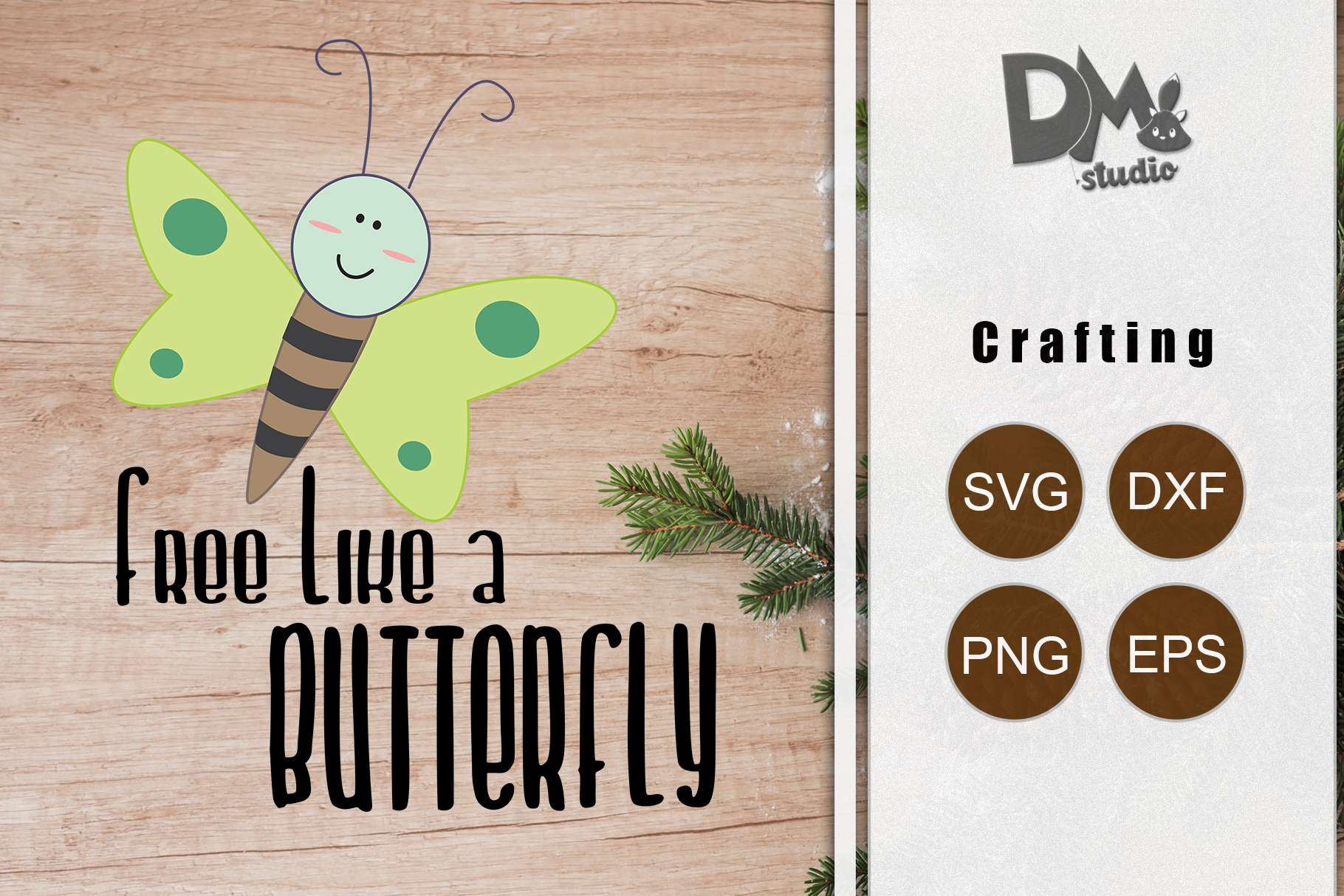 Download Free Free Like A Butterfly Graphic By Sharon Dmstudio Creative for Cricut Explore, Silhouette and other cutting machines.