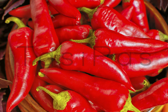 Print on Demand: Fresh Red Hot Chilli Pepper Background Graphic Food & Drinks By TasiPas