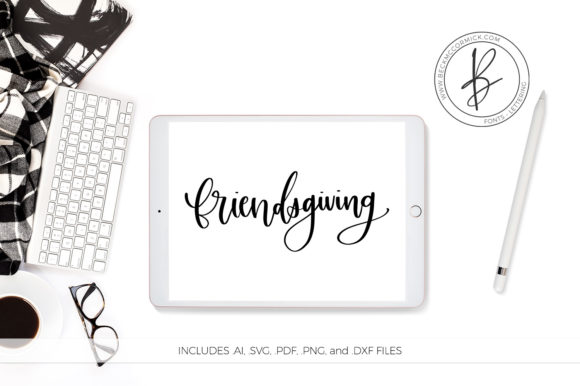 Download Free Friendsgiving Graphic By Beckmccormick Creative Fabrica for Cricut Explore, Silhouette and other cutting machines.