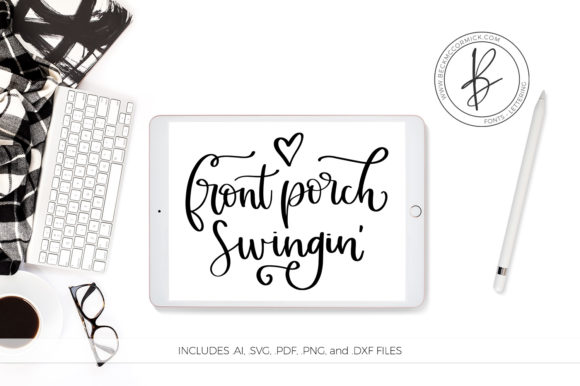 Download Free Front Porch Swingin Graphic By Beckmccormick Creative Fabrica for Cricut Explore, Silhouette and other cutting machines.