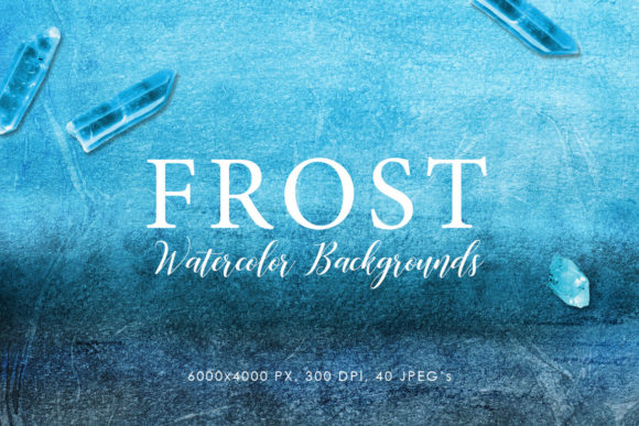 Print on Demand: Frost Watercolor Backgrounds Graphic Backgrounds By ArtistMef