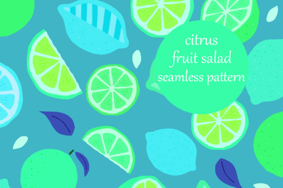 Download Free Fun Doodle Citrus Fruit Salad Pattern Graphic By Brightgrayart for Cricut Explore, Silhouette and other cutting machines.