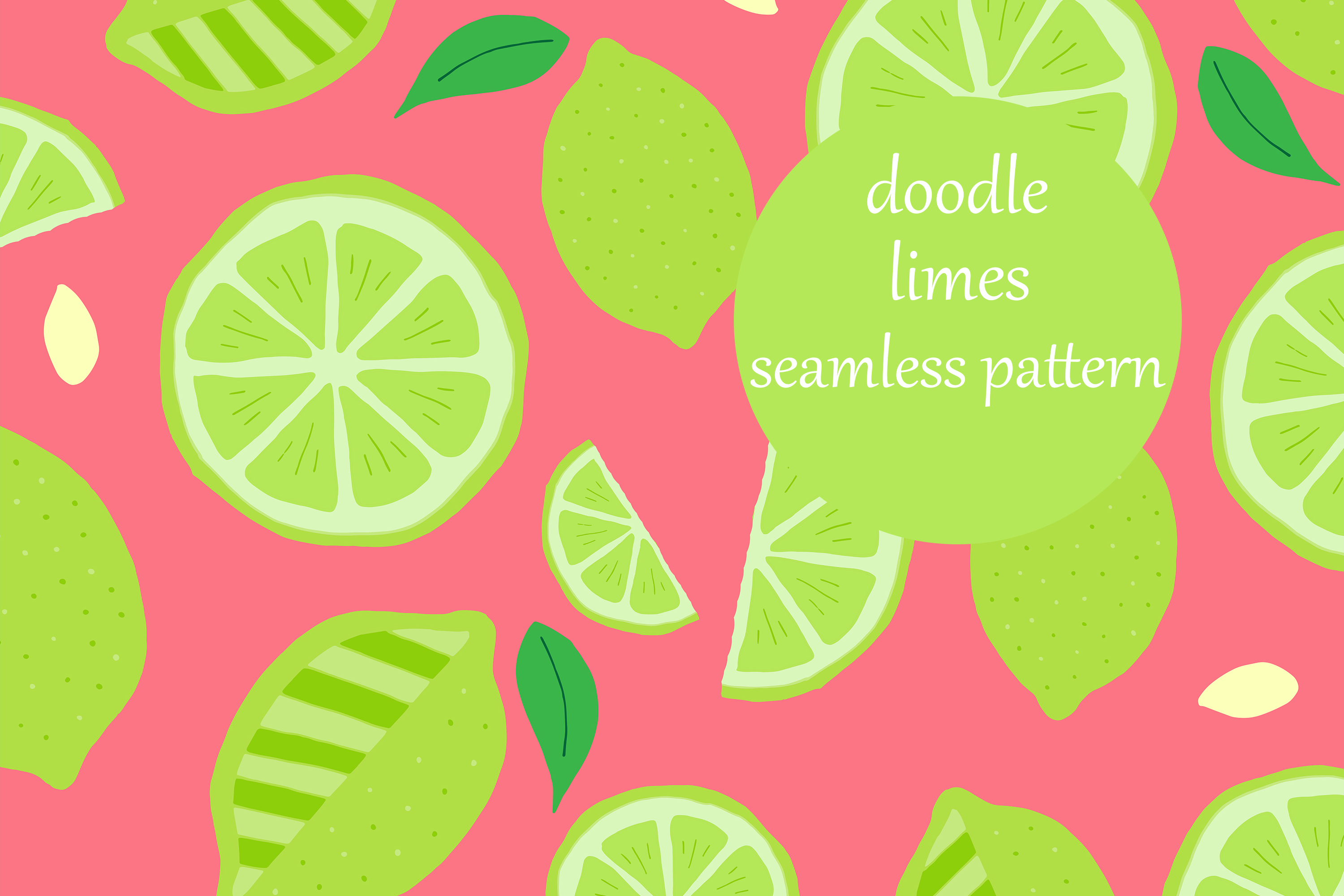 Download Free Fun Scattered Doodle Limes Pattern Graphic By Brightgrayart for Cricut Explore, Silhouette and other cutting machines.