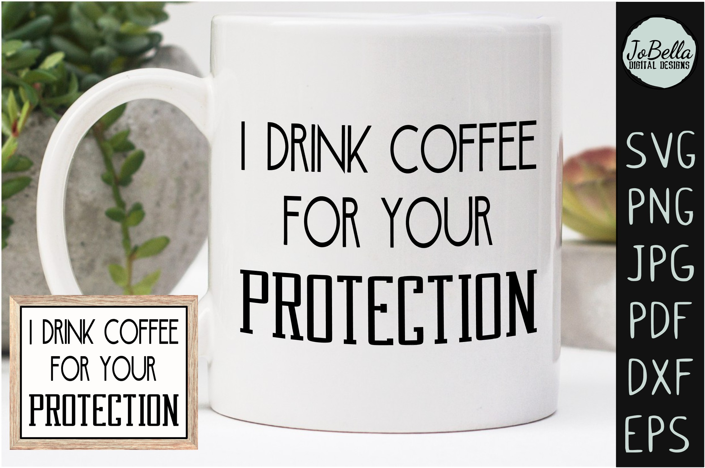 Download Free Funny Coffee Sublimation Print Graphic By Jobella Digital for Cricut Explore, Silhouette and other cutting machines.