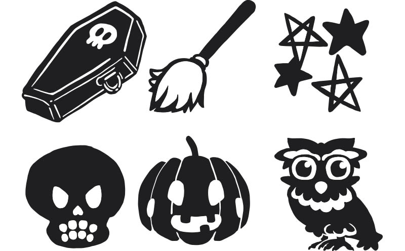 Download Free Funny Halloween Cartoon Icon Set 3 Grafik Von Milaski for Cricut Explore, Silhouette and other cutting machines.