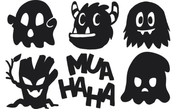 Download Free Funny Halloween Cartoon Icon Set 5 Graphic By Milaski for Cricut Explore, Silhouette and other cutting machines.