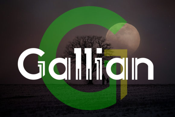 Print on Demand: Gallian Display Font By da_only_aan