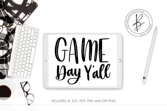 Download Free Game Day Y All Graphic By Beckmccormick Creative Fabrica for Cricut Explore, Silhouette and other cutting machines.