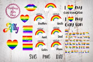 Download Free Gay Pride Bundle Lgbt Bundle Rainbow Grafik Von Crafting After for Cricut Explore, Silhouette and other cutting machines.