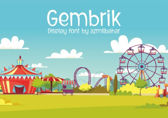 Print on Demand: Gembrik Display Font By Sons Of Baidlowi