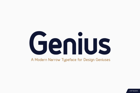 Print on Demand: Genius Sans Serif Fuente Por Artegra