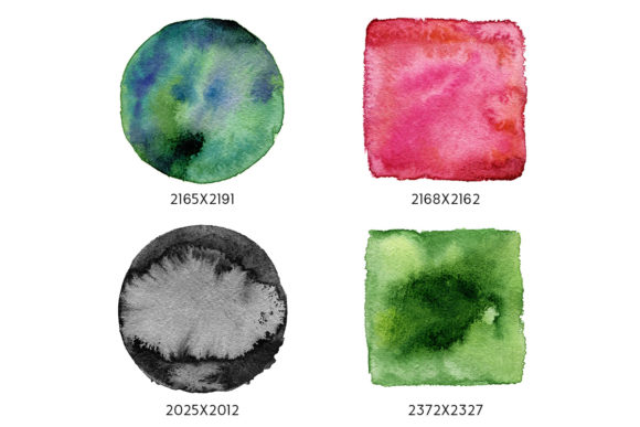 Print on Demand: Geometric Watercolor Shapes Graphic Objects By freezerondigital - Image 2