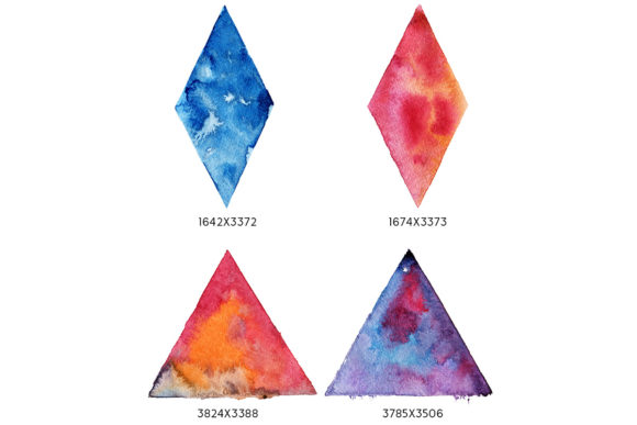 Print on Demand: Geometric Watercolor Shapes Graphic Objects By freezerondigital - Image 3