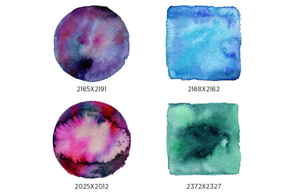 Print on Demand: Geometric Watercolor Shapes Graphic Objects By freezerondigital - Image 5