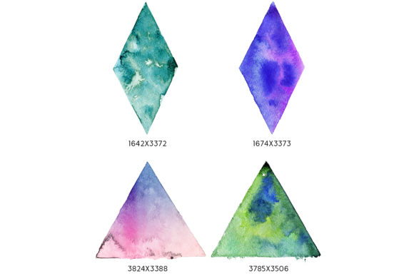 Print on Demand: Geometric Watercolor Shapes Graphic Objects By freezerondigital - Image 6