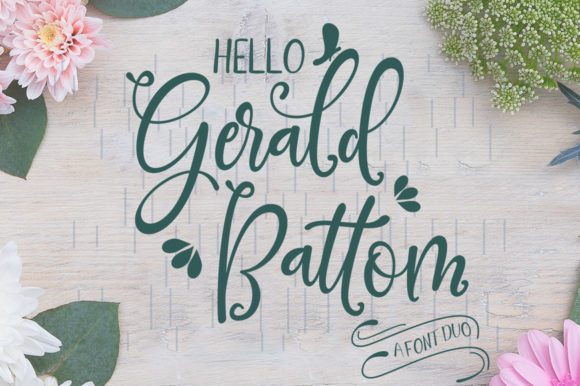 Print on Demand: Gerald Battom Script & Handwritten Font By rotterlabstudio