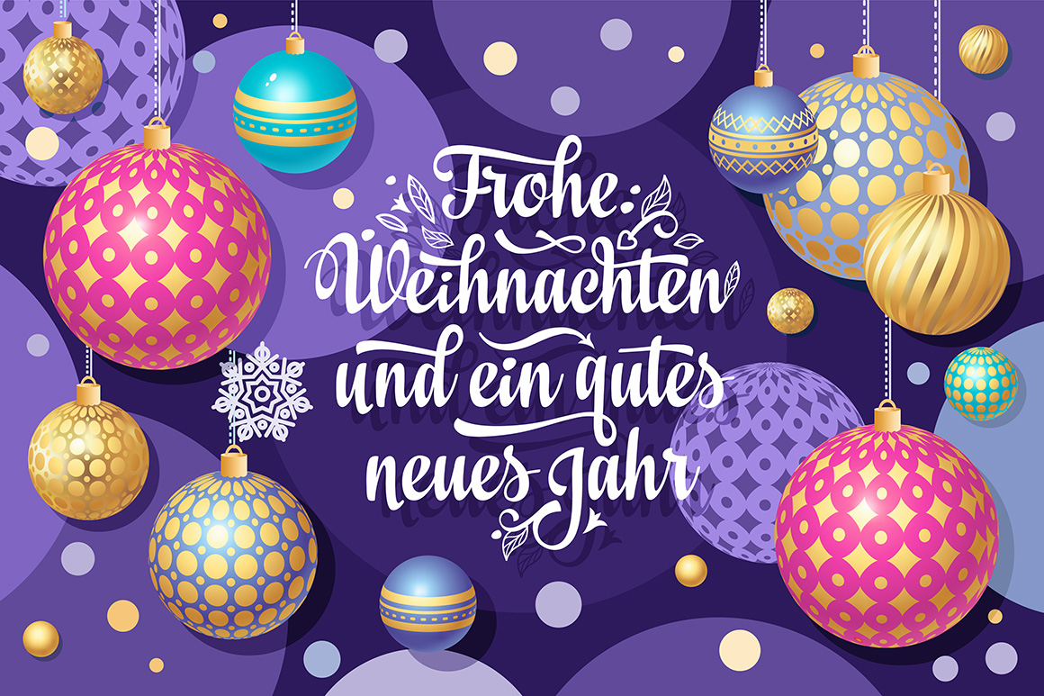 Download Free German Christmas Frohe Weihnachten Graphic By Zoyali for Cricut Explore, Silhouette and other cutting machines.