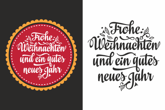 Download Free German Christmas Card Grafico Por Zoyali Creative Fabrica for Cricut Explore, Silhouette and other cutting machines.
