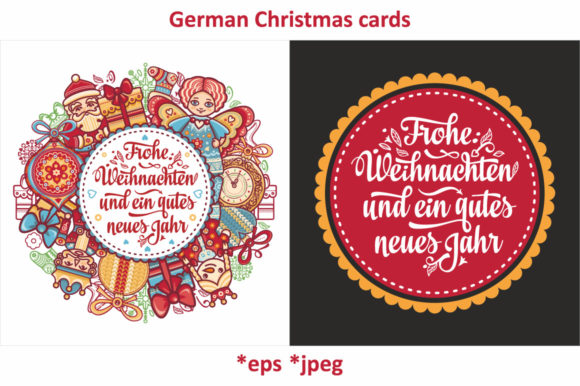 Download Free German Christmas Cards Graphic By Zoyali Creative Fabrica for Cricut Explore, Silhouette and other cutting machines.
