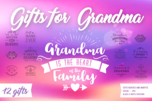 Gifts for Grandma Graphic Crafts By Peliken