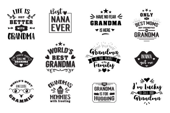 Download Free Gifts For Grandma Graphic By Peliken Creative Fabrica for Cricut Explore, Silhouette and other cutting machines.