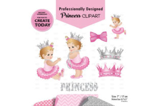 Girl Baby Pink and Gray Digital Graphic By adlydigital