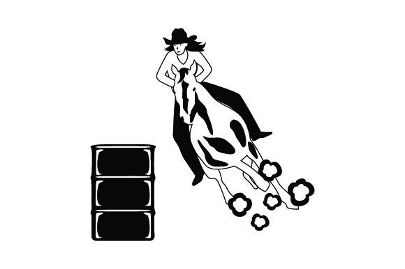 Download Free Girl Horse Barrel Racing Svg Cut File By Creative Fabrica Crafts for Cricut Explore, Silhouette and other cutting machines.