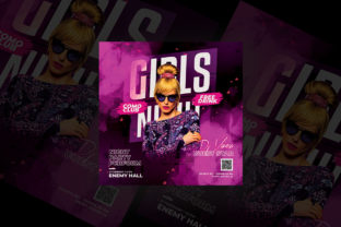 Girls Night Party Flyer Graphic By qohhaarqhaz