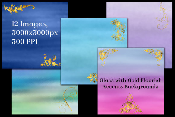 Glass with Gold Accents Backgrounds Graphic By SapphireXDesigns Image 2