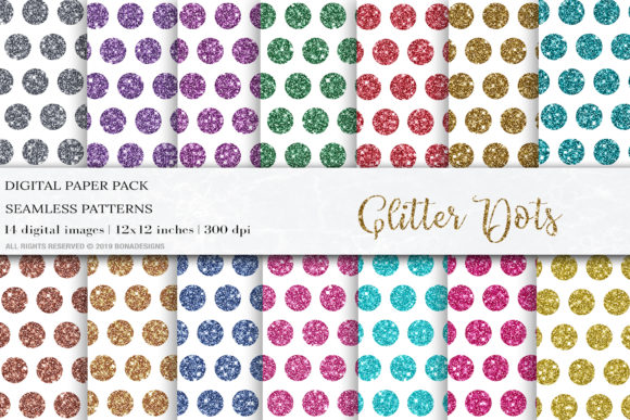 Download Free Glitter Dots Digital Papers Patterns Graphic By Bonadesigns for Cricut Explore, Silhouette and other cutting machines.