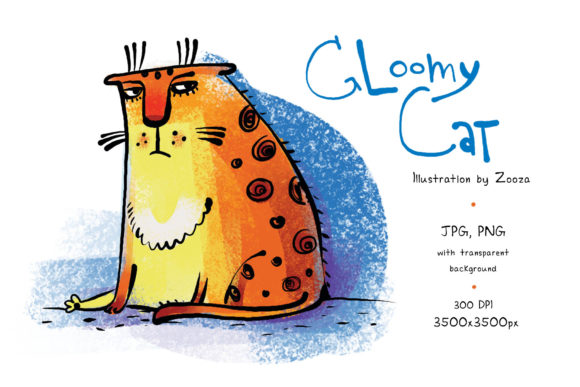Print on Demand: Gloomy Cat Graphic Illustrations By Zooza Art