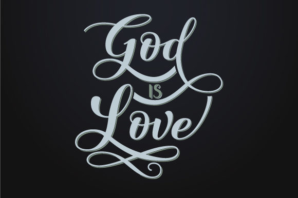 Download Free God Is Love Graphic By Javi Rivas Creative Fabrica for Cricut Explore, Silhouette and other cutting machines.