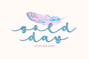 Gold Day Display Font By Justina Tracy