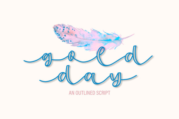Print on Demand: Gold Day Display Font By Justina Tracy - Image 1