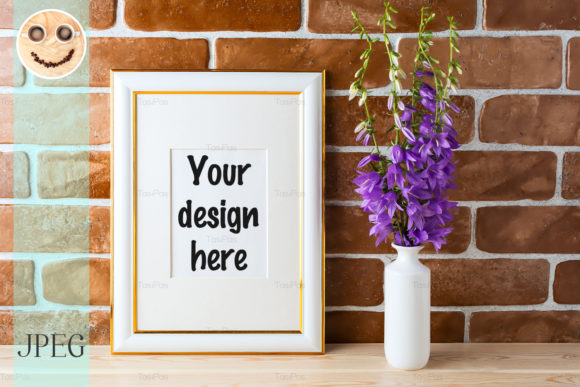 Gold Decorated Frame Mockup Graphic By TasiPas