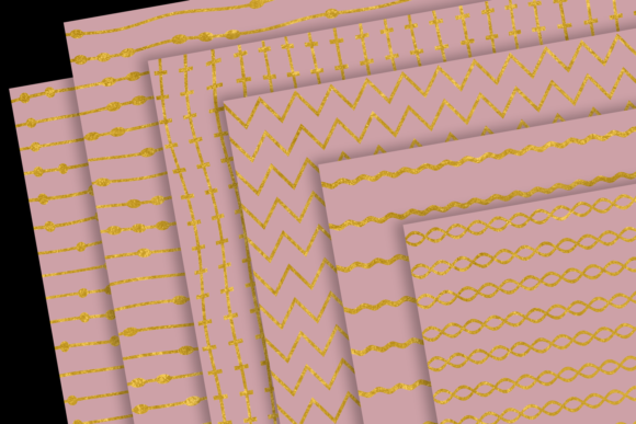 Print on Demand: Gold Patterns on Blush Graphic Patterns By JulieCampbellDesigns - Image 4