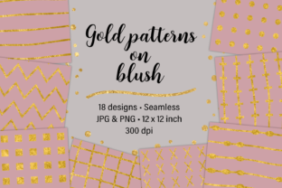 Gold Patterns on Blush Graphic By JulieCampbellDesigns