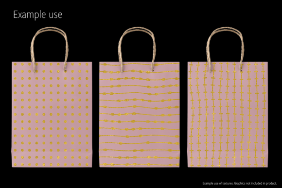 Print on Demand: Gold Patterns on Blush Graphic Patterns By JulieCampbellDesigns - Image 6