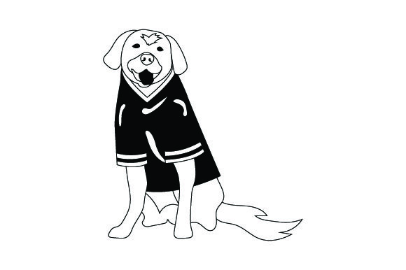 Golden Retriever in American Football Jersey Dogs Craft Cut File By Creative Fabrica Crafts - Image 2