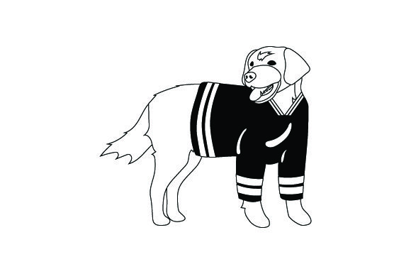 Golden Retriever in Hockey Jersey Dogs Craft Cut File By Creative Fabrica Crafts - Image 2