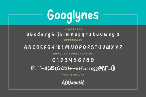 Print on Demand: Googlynes Display Font By CreatypeStudio - Image 7