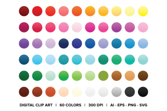 Gradient Web Button Clip Art Graphic By Running With Foxes Image 5