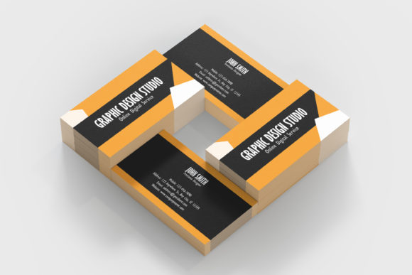 Print on Demand: Graphic Design Business Card Template Graphic Print Templates By denestudios - Image 3
