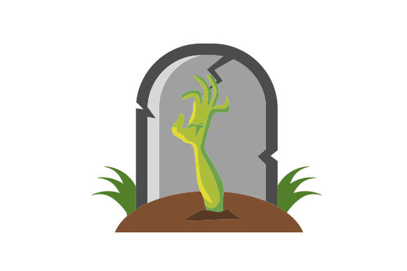 Grave Stone with Hand Reaching out of Ground Halloween Craft Cut File By Creative Fabrica Crafts
